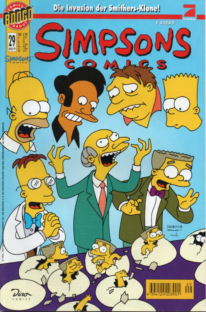 Simpsons Comics - März 99 1999 - Ausgabe 29 - Dino Comics - 1