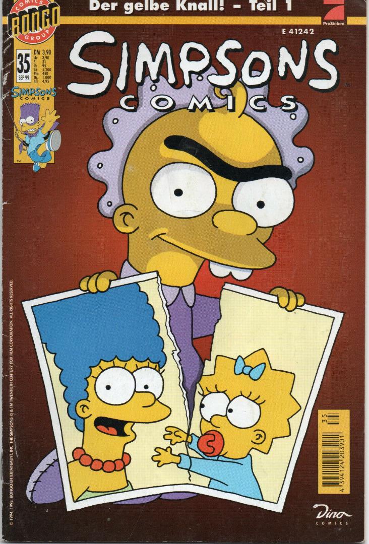 Simpsons Comics September Ausgabe Dino Comics