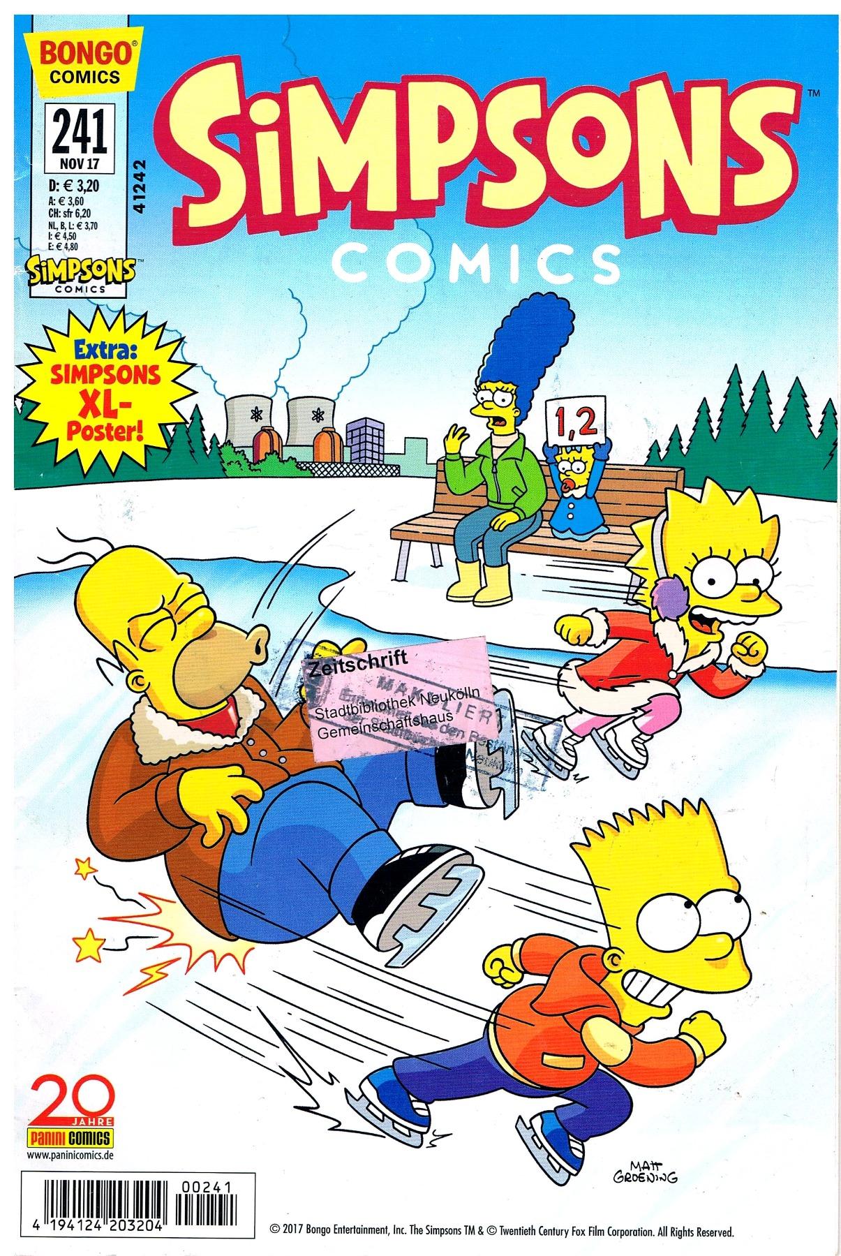 Simpsons Comics Heft Ausgabe Nov 2017