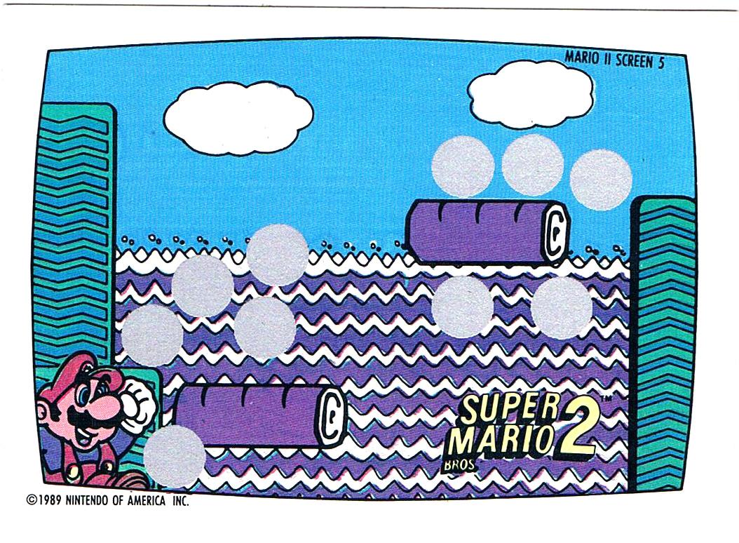 Super Mario Bros 2 - Rubbelkarte