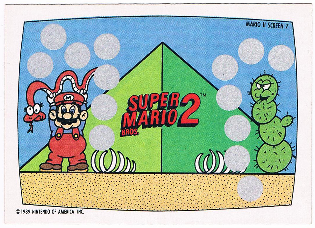 Super Mario Bros 2 - Rubbelkarte