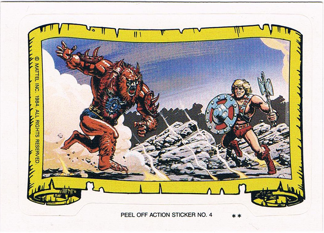 Beast Man Sticker von Topps