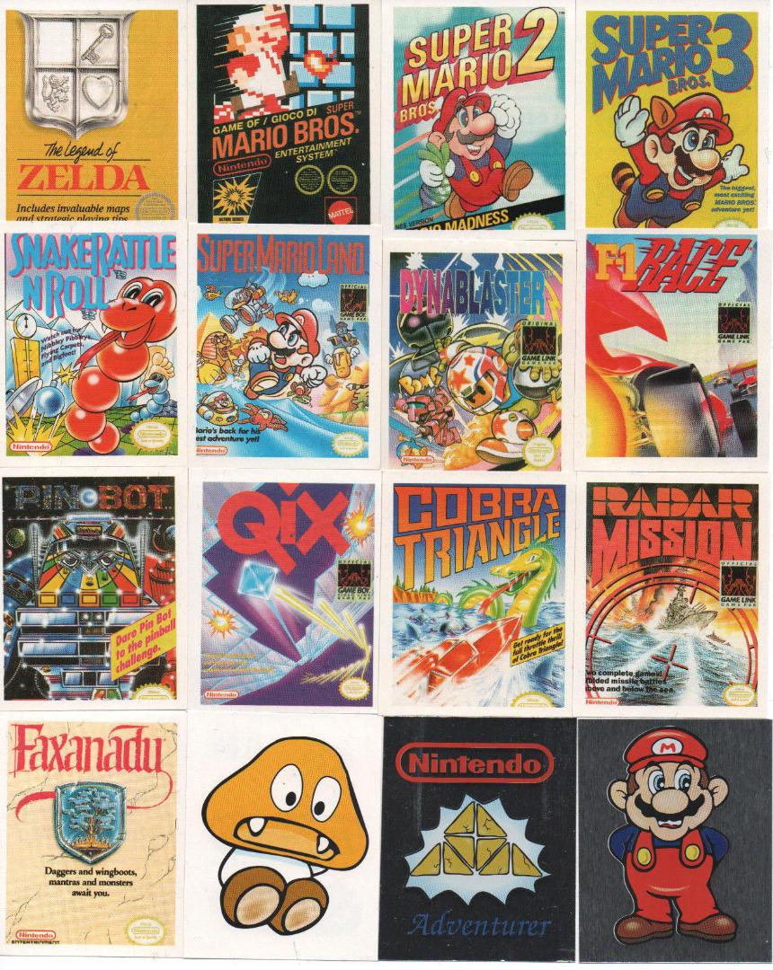 16x NES & Game Boy Sticker von 1992 - 1
