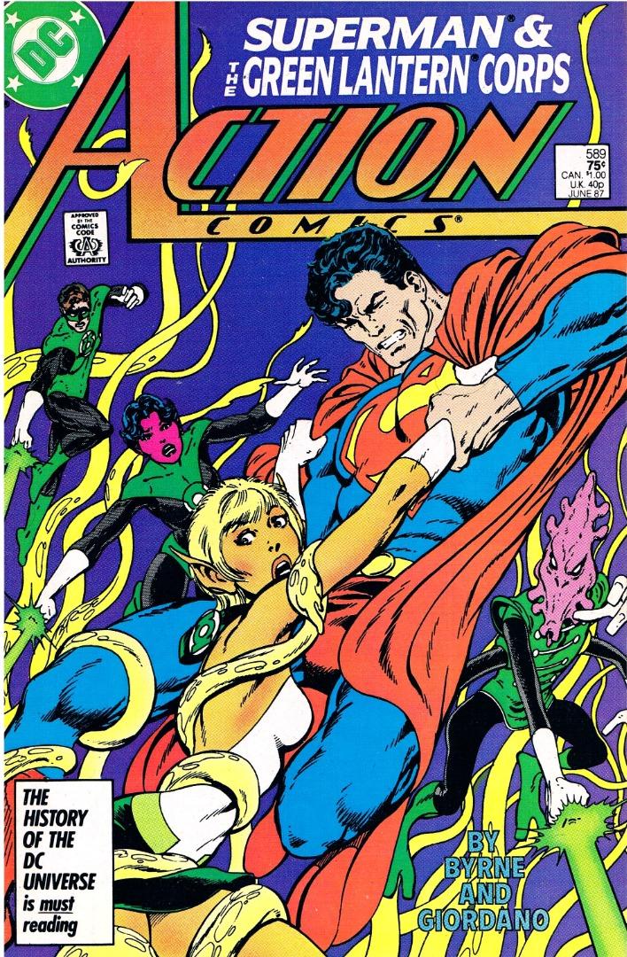 Action Comics No589 Superman The Green