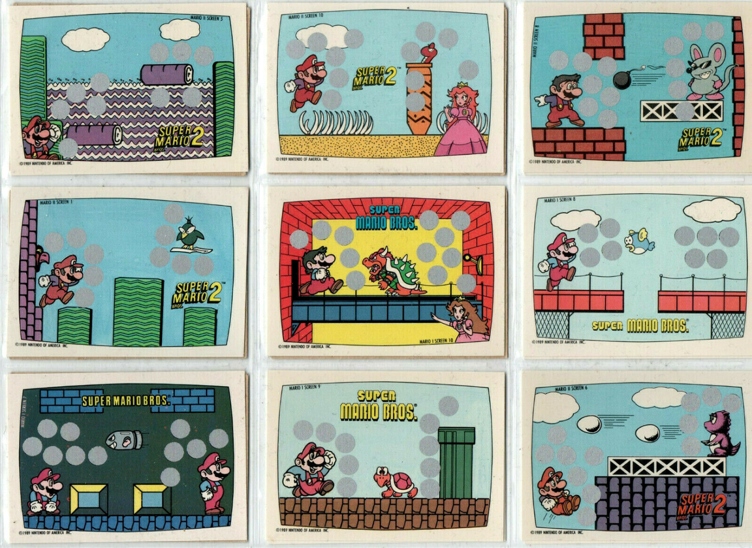 Super Mario Bros - Trading Cards