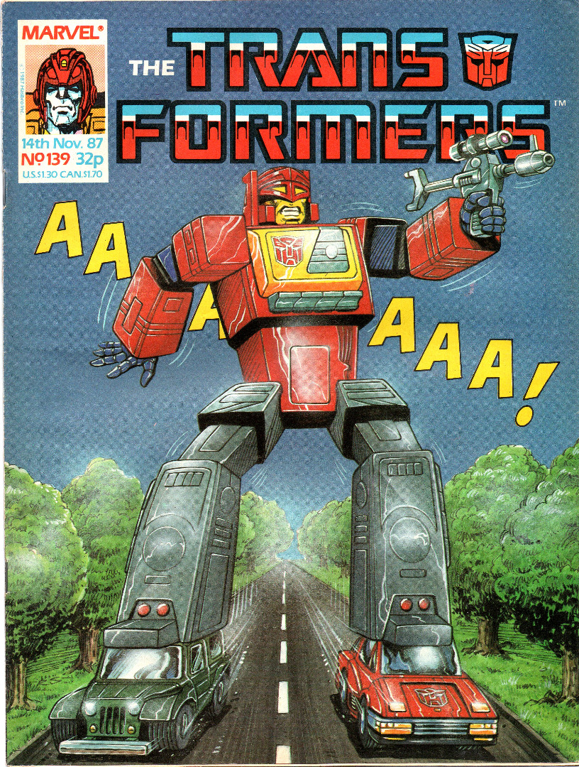 The Transformers Comic Generation G1 Nov