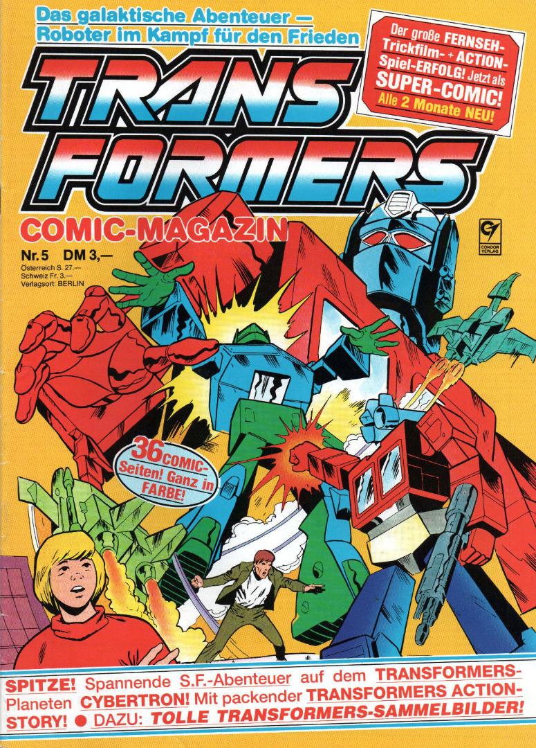 Transformers Comic-Magazin Nr. 5 - Generation 1 / G1 - 1989 - 1