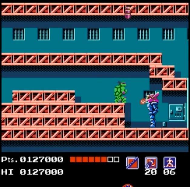 Nintendo NES Teenage Mutant Hero Turtles-