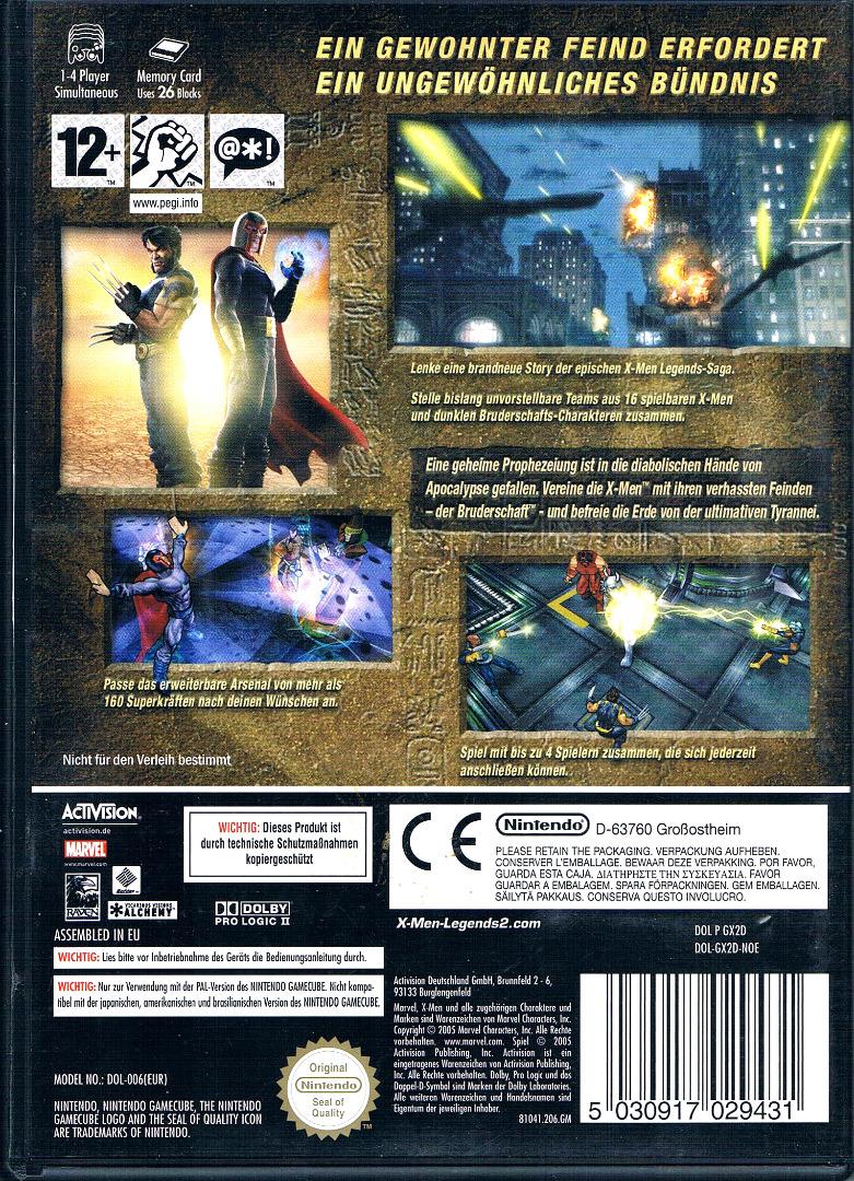 Nintendo GameCube X-Men Legends II Rise