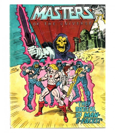 Masters of the Universe - The ordeal of Man-E-Faces - Mini Comic -He-Man