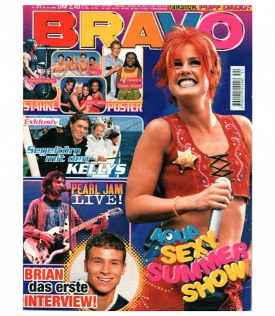 Bravo Nr.31 1998 Heft - Jetzt online Kaufen - Aqua Backstreet Boys Nana Pearl Jam Kelly Family Touche