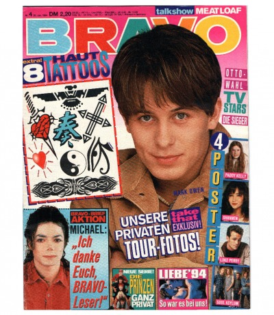 Bravo Nr. 4 1994 Heft - komplett - Jetzt online Kaufen - Michael Jackson Take That 2 Unlimited Die Prinzen