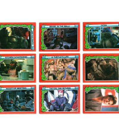 Teenage Mutant Ninja Turtles 2 / Secret of Ozz - 18 Trading Cards - Topps 1991