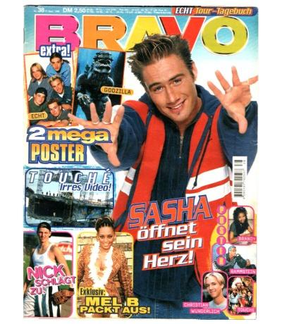 Bravo Nr.38 1998 Heft - Jetzt online Kaufen - Backstreet Boys Sasha Mel B Echt Usher The Kelly Family
