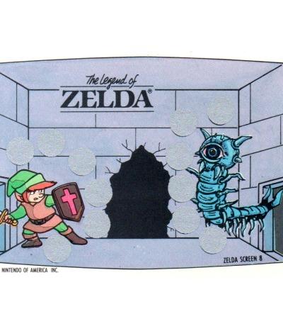 The Legend of Zelda - Nintendo NES Rubbelkarte von 1989 - Nintendo Game Pack Serie 1
