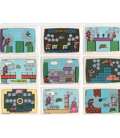 Super Mario Bros Rubbelkarten Nintendo Game