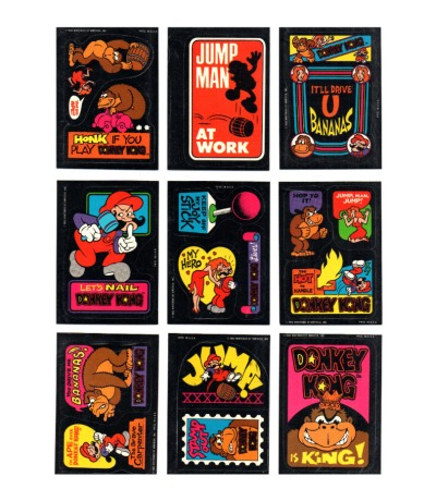 9x Donkey Kong Arcade Sticker - Nintendo 1982