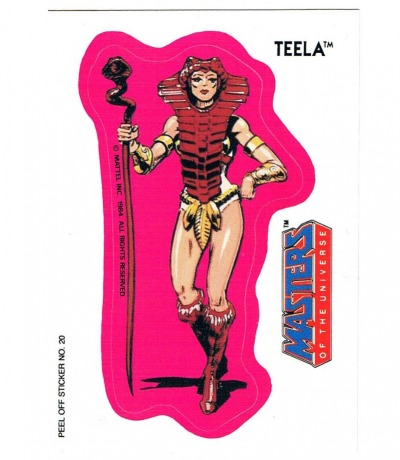 Teela Sticker by Topps Masters of