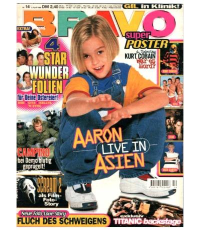 Bravo Nr.14 1998 Heft - Jetzt online Kaufen - Die Toten Hosen Aaron Carter Guan Apes Kurt Cobain Bobo