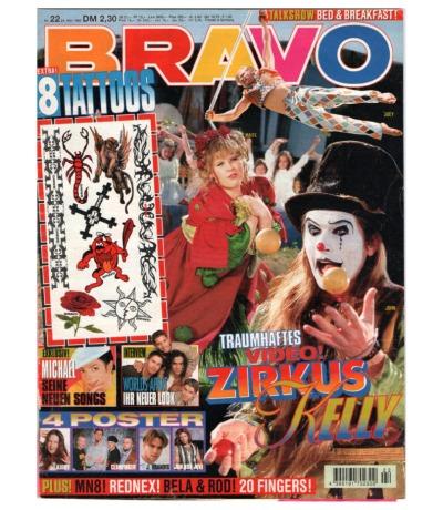 Bravo Nr.22 1995 Heft - Jetzt online Kaufen - Kelly Family Michael Jackson Charly Lownoise Mental Theo