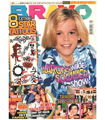 Bravo Nr.25 1998 Heft - Jetzt online Kaufen - Aaron Carter Garbage 4 the Cause The Moffatts Spice Girls