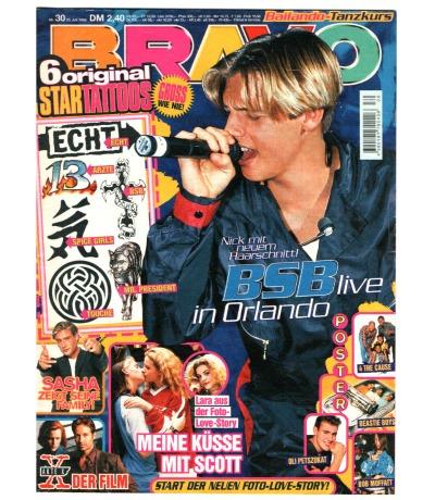 Bravo Nr.30 1998 Heft - Jetzt online Kaufen - Echt Blümchen Backstreet Boys N.Y.C.C. Sahsa Touche