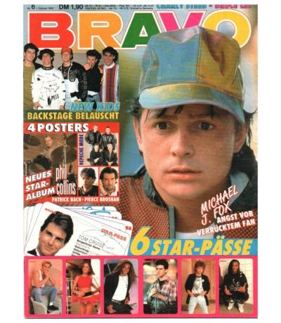 Bravo Nr.6 1990 Heft - Bruce Lee New Kids on the Block Skid Row Pan Tau