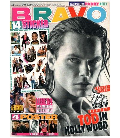 Bravo Nr.5 1994 Heft - komplett - Jetzt online Kaufen - Twenty 4 Seven Aerosmith River Phoenix Paddy Kelly Guns N Roses Die Prinzen