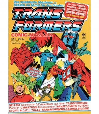 Transformers Comic-Magazin Nr. 5 - Generation 1 / G1 - 1989 - Transformers