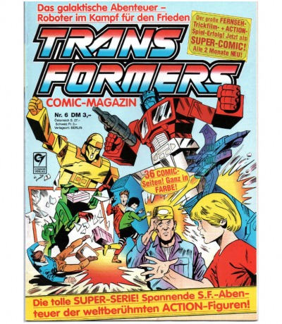Transformers Comic-Magazin Nr. 6 - Generation 1 / G1 - 1989 - Transformers