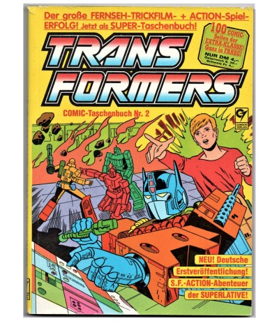 Transformers Comic-Taschenbuch Nr2 Generation G1 Transformers