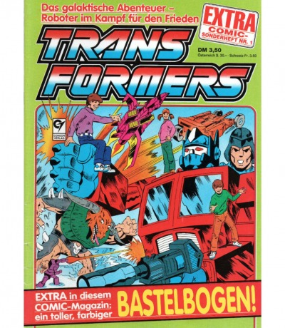 Transformers Extra Comic Sonderheft Generation G1