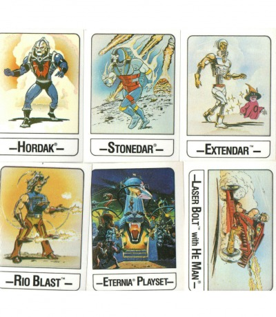 Masters of the Universe - 6 Trading Cards von Wonder - He-Man MOTU