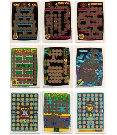 9x Rubbelkarten DONKEY KONG Pac Man