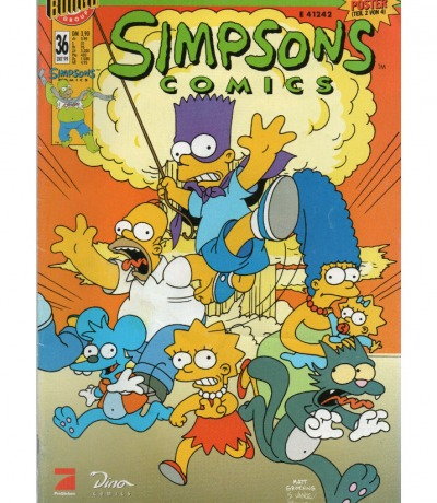 Simpsons Comics Oktober Ausgabe Dino Comics
