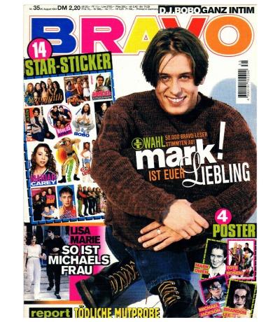 Bravo Nr35 Heft Komplett Jugend-Magazin Heft