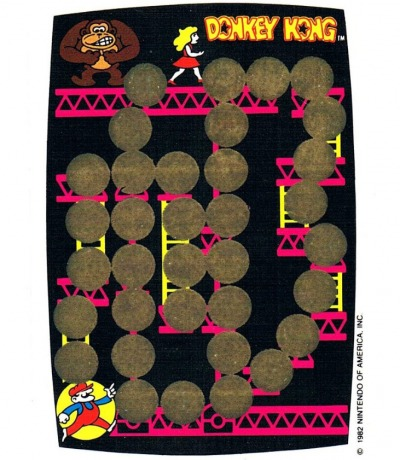 DONKEY KONG Rubbelkarte Rub-Off Card Nintendo