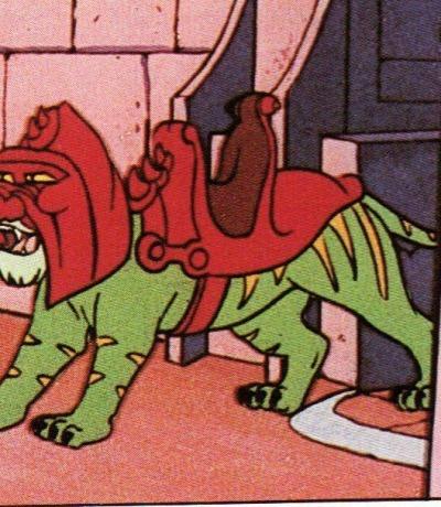 Panini Sticker Nr. 191 - 1983 Filmation He-Man / Masters of the Universe - Battlecat