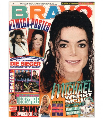 Bravo Nr.2 1994 Heft - komplett - Jetzt online Kaufen - Michael Jackson East 17 Soul Asylum - 06.Januar - 06.01.1994