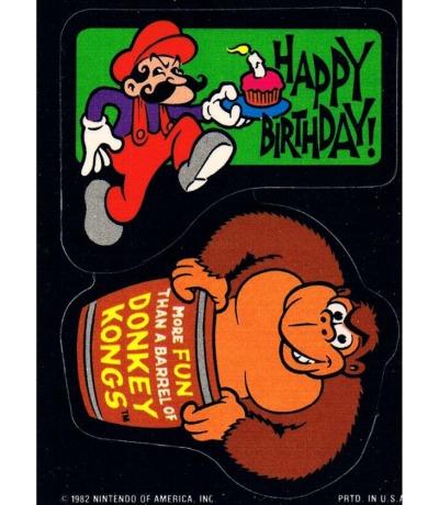 DONKEY KONG Sticker Nintendo Game&Watch Arcade