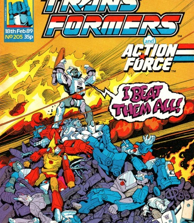 The Transformers - Comic - Generation 1 / G1 - 1989 - Feb 89 205 - Englisch - I beat them all - Transformers
