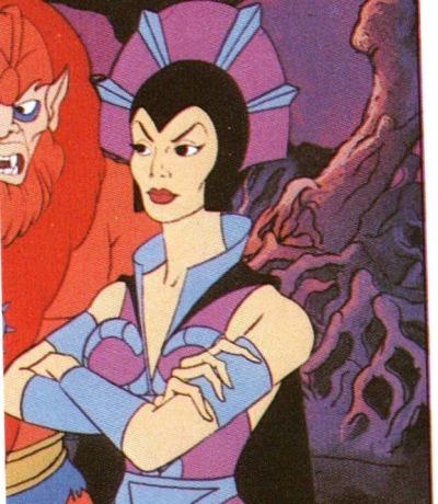 Panini Sticker Nr. 208 - 1983 Filmation He-Man / Masters of the Universe - Beast Man & Evil-Lyn