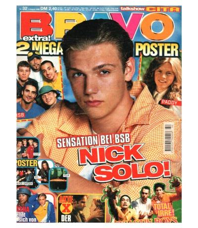 Bravo Nr.32 1998 Heft - The Moffatts DJ Bobo Die Toten Hosen Spice Girls Nick K.