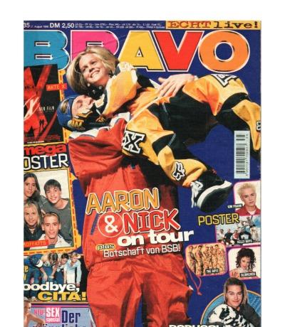 Bravo Nr.35 1998 Heft - Jetzt online Kaufen - Madonna Backstreet Boys Scooter Caught in the Act
