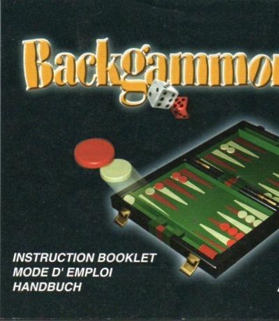 Backgammon Anweisung / Spielanleitung / Handbuch - Game Boy Color