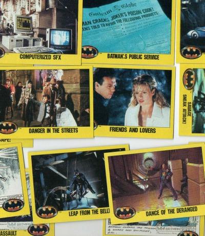 Batman 1989 - 14 Trading cards