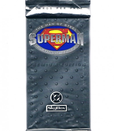 1x Trading Cards Packung Superman Man
