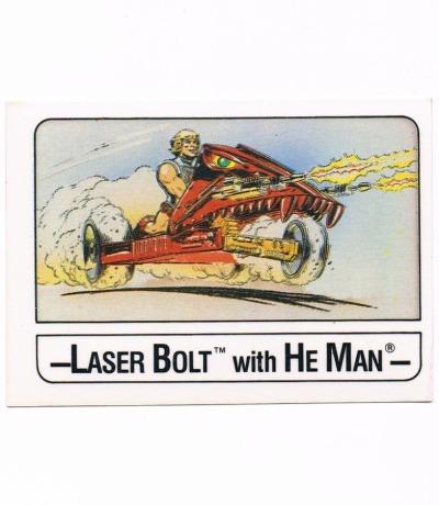 Wonder Trading Card Laserbold He-Man Masters
