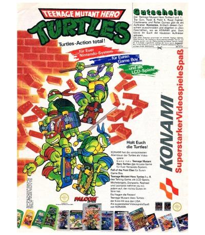 Konami Werbung Teenage Mutanten Hero Turtles