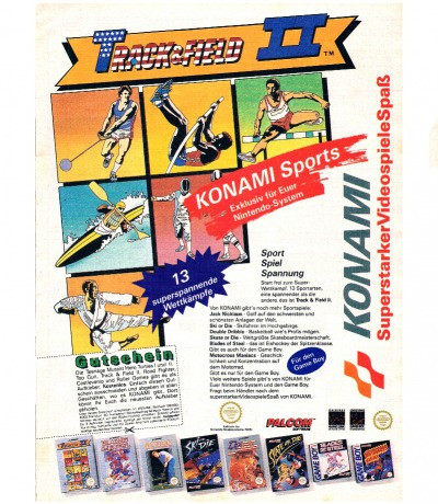 Konami Werbung Track Field Nintendo NES